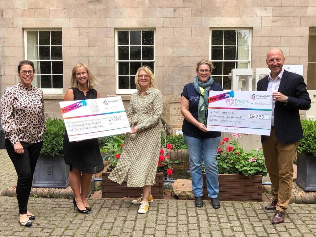 Charity cheque presentation, Prosperity 24/7
