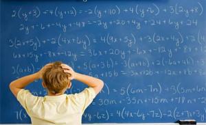 difficutlt maths chalkboard